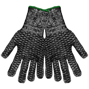 Honeycomb Patterned PVC Coated, Heavy-Weight Brushed Acrylic/Terry Gloves