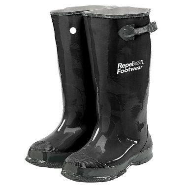 Repel Footwear™ Over-the-Shoe Rubber Slush Boots, Black