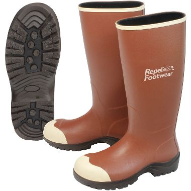 Repel Footwear™ Neoprene Boots, Penetration-Resistant Outsole, Steel Toe