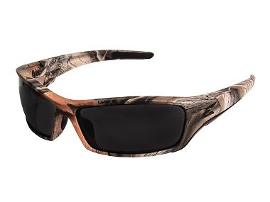 Edge® SR116CF Reclus Forest Camouflage Safety Glasses, Smoke Lens