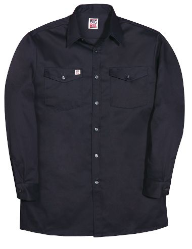 Big Bill® 100 Button Front 100% Cotton 6 oz. Twill Long Sleeve Work Shirt
