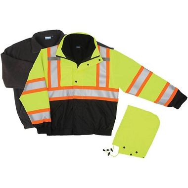 ERB Safety W550 Class 3 Bomber Jacket 3-in-1  with Contrast Reflective Stripes