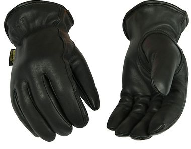 Kinco® 93HK Insulated Black Goatskin Driver Gloves