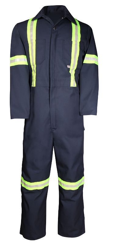Big Bill® 439BF Twill Workwear Deluxe Reflective Coverall,  Made with USA Fabric