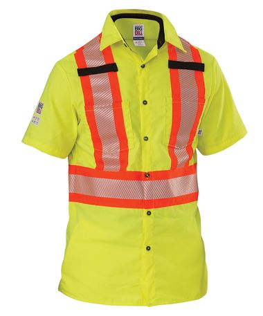 Big Bill® 134HVP Short Sleeve Hi Viz Shirt with Segmented Reflective Tape