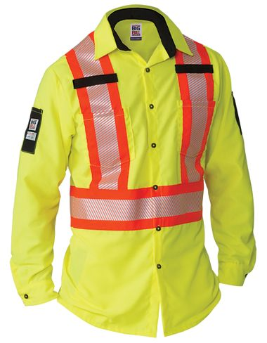 Big Bill® 144HVP Long Sleeve Shirt with Segmented Reflective Tape