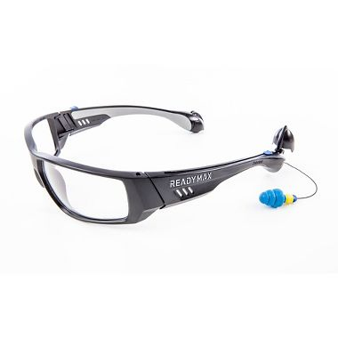 Soundshield™ Fashion Safety Glasses, Built-in Earplugs, Clear Anti-Fog Lens