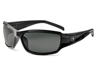 Ergodyne® Skullerz® 51033 Thor Safety Glasses, Black Frame, Smoke Fog-Off™ Lens