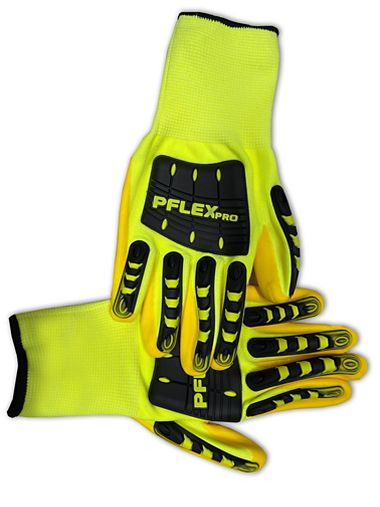 PFlex Pro High Visibility Impact Resistant, Foam Nitrile Coated Gloves
