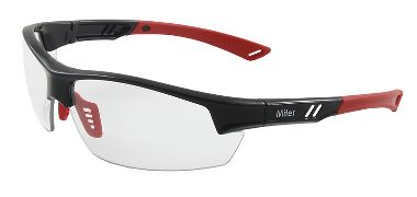 Miter Safety Glasses, Anti-Fog Clear Lens