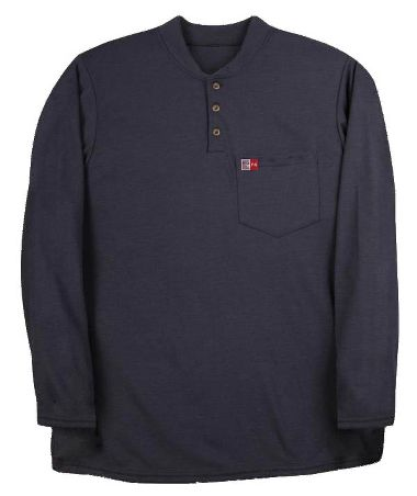 Big Bill® DW18PD8 Long Sleeve Henley Shirt, Meets NFPA 70E