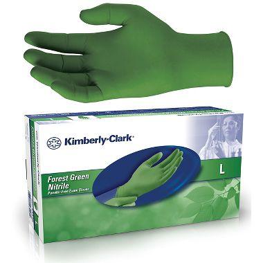 Kimberly Clark 4344 Forest Green Nitrile 3.5 Mil Disposable Nitrile Gloves, Box of 200