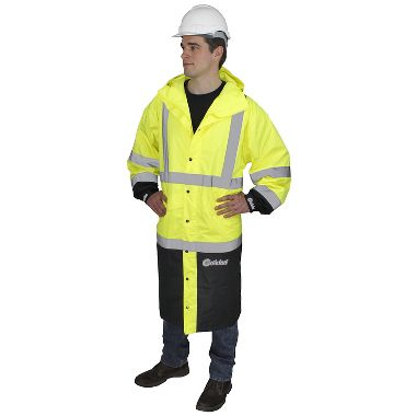 "Illuminator™ Class 3, Breathable 75 Denier Ripstop, 48"" Black Bottom Raincoat"