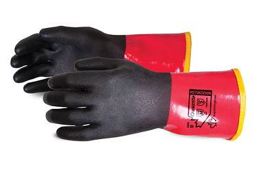 Chemstop™ Extreme Comfort PVC Gloves with Cut Resistant Liner and Full Nitrile Coating
