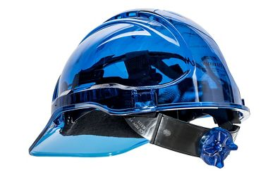 Portwest® Peakview See-Through Hard Hat, Vented, Ratchet Suspension