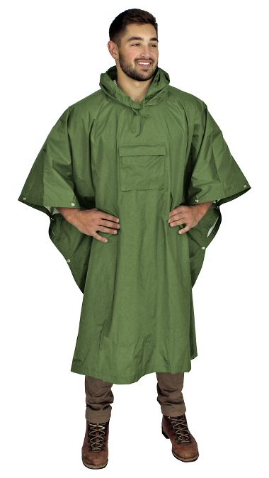 Repel Rainwear™ 70 Denier Ripstop Nylon Ultra-Lightweight Survival Poncho