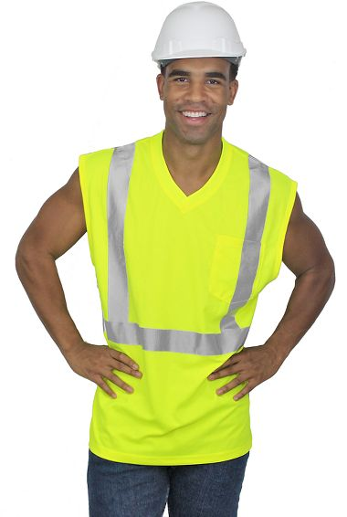 Xtreme-Flex™ Class 2 Sleeveless T-Shirt with Stretch Reflective Tape
