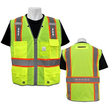 FrogWear® GLO-15LED HV LED Lighted Class 2 Surveyor's Vest