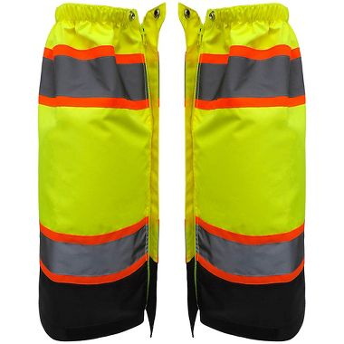 FrogWear® High-Visibility ANSI Class E Lightweight, Solid Waterproof Leg Gaiters