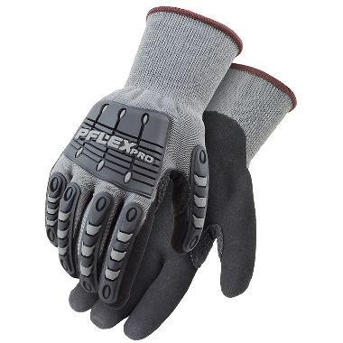PFlex Pro Impact Resistant, Sandy Nitrile Coated, Cushioned Palm Gloves