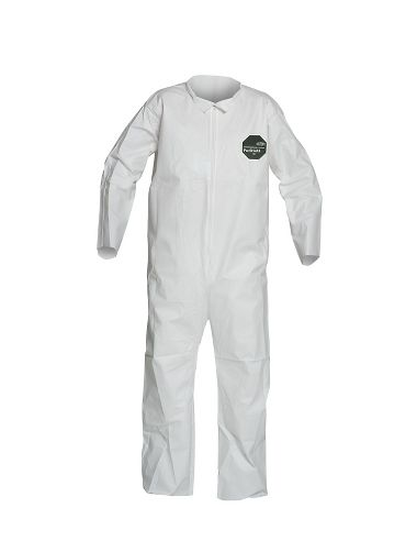 DuPont™ ProShield® 50 Coverall, NB120S WH, Open Wrists and Ankles, Serged Seams