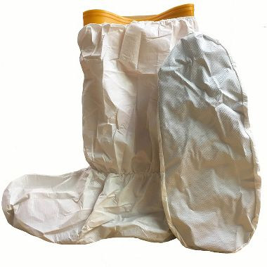 "DuPont™ ProShield® 60 Boot Cover NG456S WH, PVC Skid-Resistant Sole, 18"" High,Serged Seams"