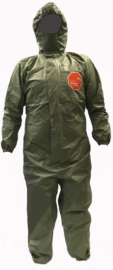 DuPont™ Tychem® 2000 SFR Coverall QS127T GR, Chem/2ndary FR Protect, Elastic Ankles&Wrists