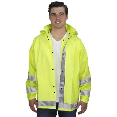 Repel Rainwear™ 0.35mm PVC/Polyester Reflective Rain Jacket