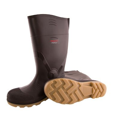 "Tingley 51154 Profile™ PVC 15"" Boots, Cleated Outsole, Plain Toe"
