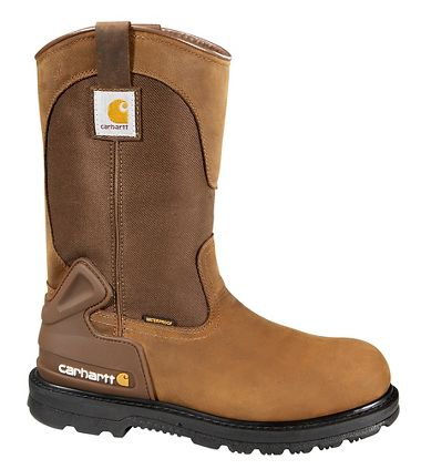 Carhartt® CMP1200 Waterproof 11-Inch Bison Brown Wellington Boots, Steel Toe