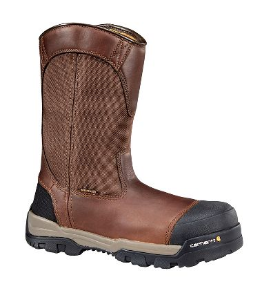 Carhartt® CME1355 Ground Force 10-Inch Brown Waterproof Pull On Work Boot