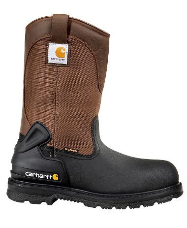 Carhartt® CMP1259 11-Inch Brown/Black Insulated Waterproof Wellington Boots, Steel Toe