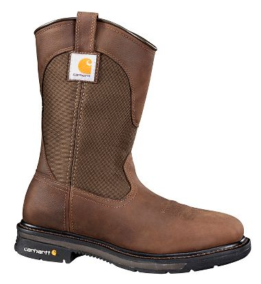 Carhartt® CMP1108 11 Inch, Dark Bison Brown, Square Toe Wellington Boots, Plain Toe