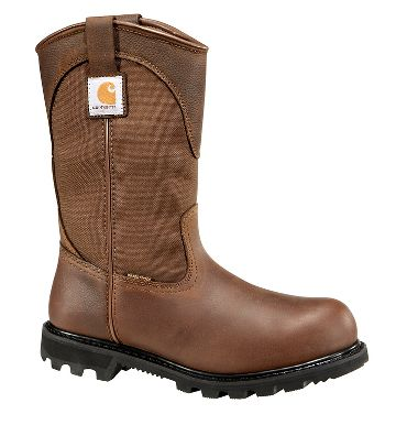 Carhartt® CMP1220 11-Inch Dark Bison Waterproof Wellington Boots, Steel Toe