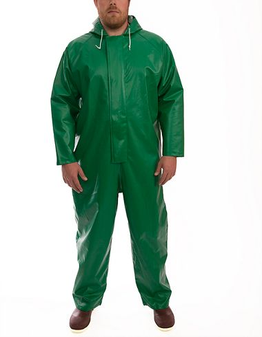 Tingley® V41108 Chemical and Flame Resistant Safetyflex® Coverall, Attached Hood