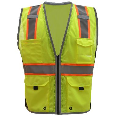 GSS 1703 Class 2 Hype-Lite Vest with Black Sides