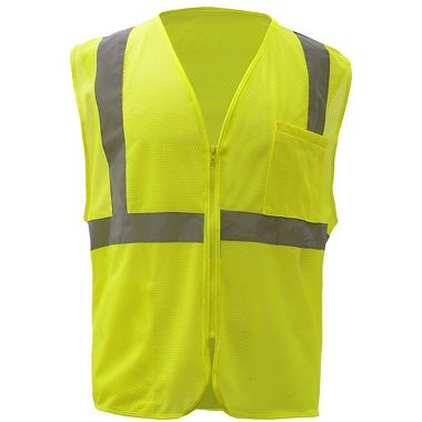 GSS 1002 Class 2 Mesh Zipper Safety Vest