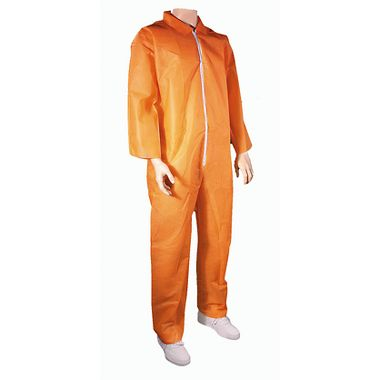 Cellucap® 35802O Polypropylene, 1.5 oz. Safety Alert Orange Disposable Coveralls, 25/Case