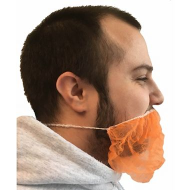 Cellucap® BP4ROR Orange Disposable Beard Covers, 100 per Package