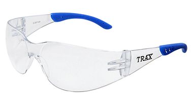 Trax Safety Glasses, Clear Lens