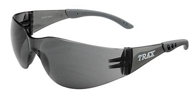 Trax Safety Glasses, Smoke Lens