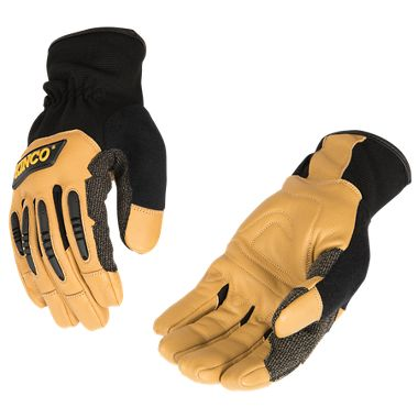 Kinco® 2132 KincoPro™ Grain Goatskin & Synthetic Hybrid Gloves with Impact Protection