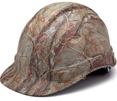 Pyramex® HP44119 Ridgeline® Hard Hat 4 Pt Ratchet Suspension, Matte Camo Pattern