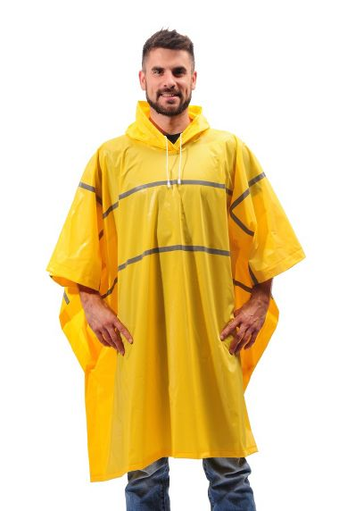 Repel Rainwear™ XL & Tall Reflective 0.20 mm PVC Rain Poncho