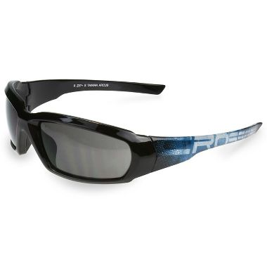 Crossfire® Arcus™ 450501 Premium Safety Glasses, Black Graphic frame, Smoke Lens