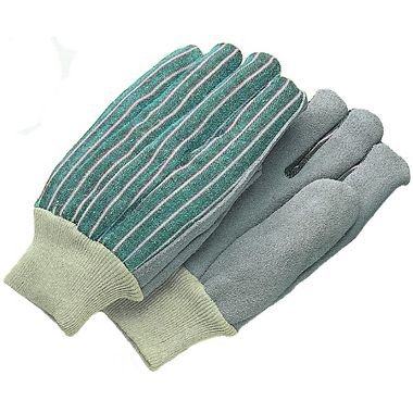 Leather Palm Gloves, Men's Knit Wrist