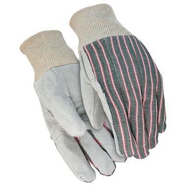 Leather Palm Gloves, Patch Palm Knit Wrist