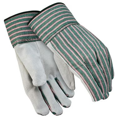 Leather Palm Gloves, Band-Top Cuff