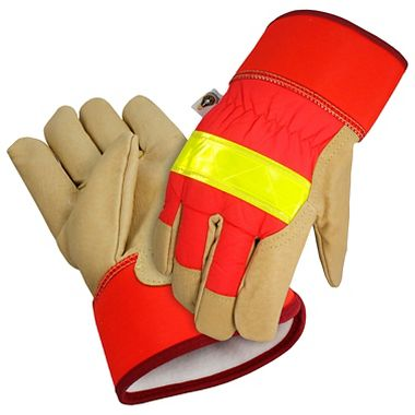 Insulated Reflective Gloves, Safety Cuff