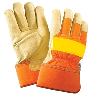 Reflective Unlined Gloves, Safety Cuff
